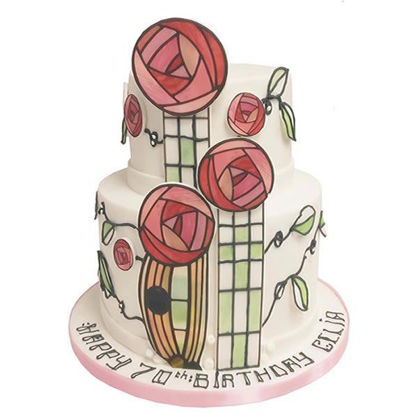 Charles Rennie MacIntosh Cake