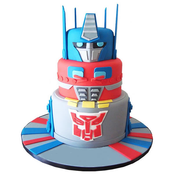 Fabulous Transformer Optimus Prime Cake Funny Birthday Cards Online Elaedamsfinfo