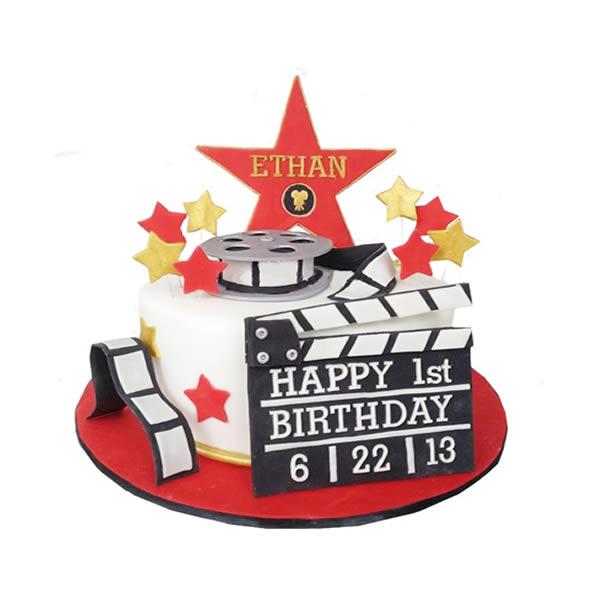 Pleasing Hollywood Movie 1 Tier Cake Funny Birthday Cards Online Kookostrdamsfinfo