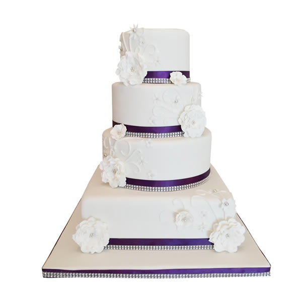 Diamante Elegance Wedding Cake