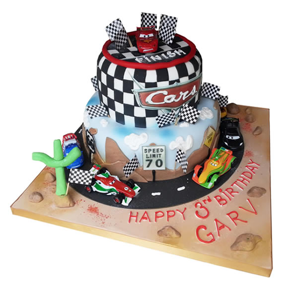 Astonishing Disney Cars Birthday Cake Funny Birthday Cards Online Alyptdamsfinfo