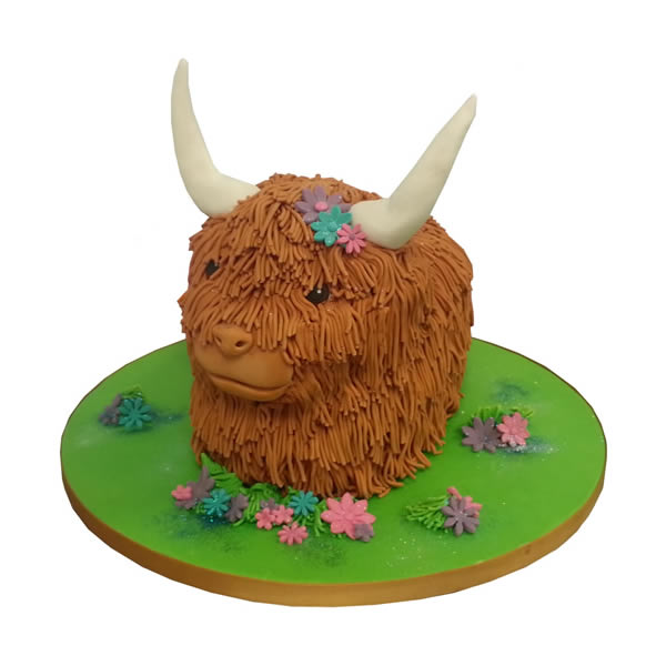 Highland Cow Birthday Cake