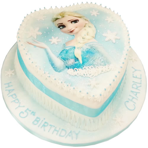 Amazing Loveheart Frozen Birthday Cake Personalised Birthday Cards Paralily Jamesorg