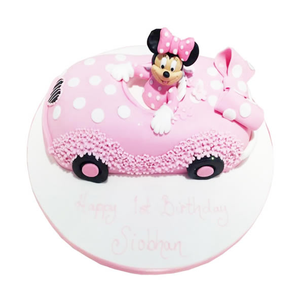 Minnie Mouse Car Cake