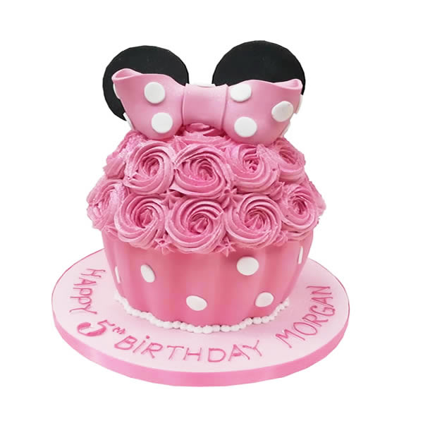 Minnie Mouse Large Cupcake -