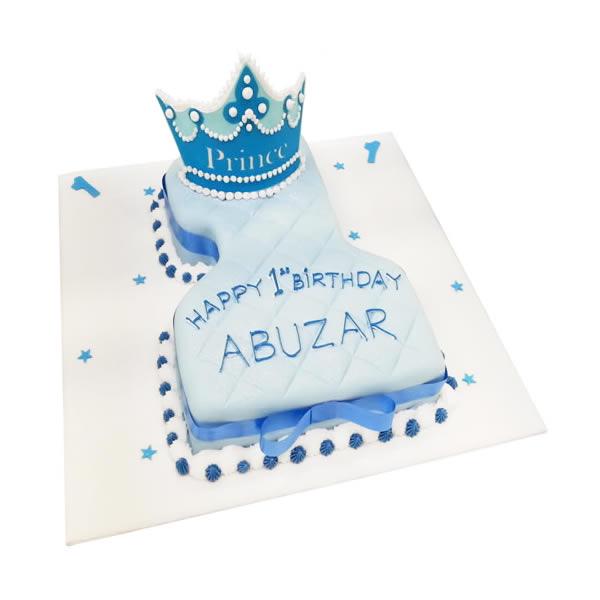 Wondrous Number 1 Prince Cake Personalised Birthday Cards Beptaeletsinfo