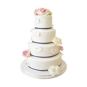 Rose Petals Wedding Cake