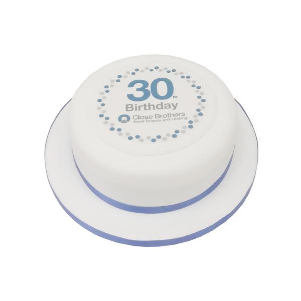Round Corporate Cake
