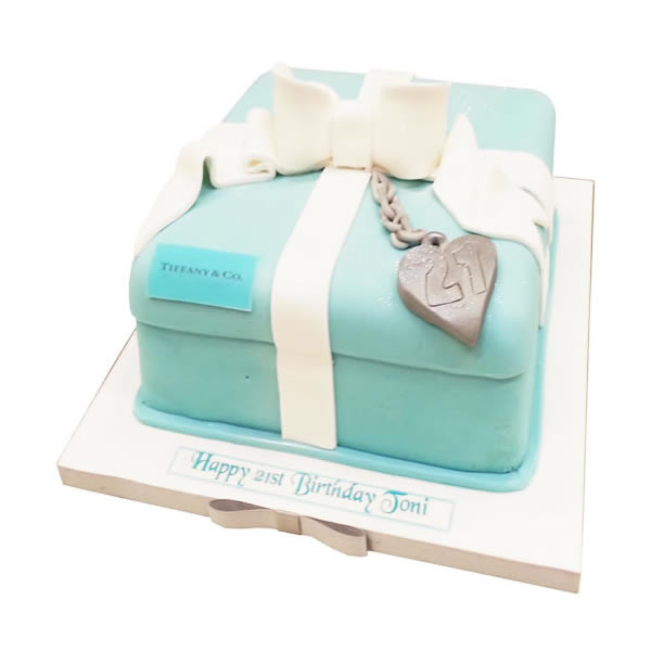 Admirable Tiffany Box Cake Funny Birthday Cards Online Benoljebrpdamsfinfo