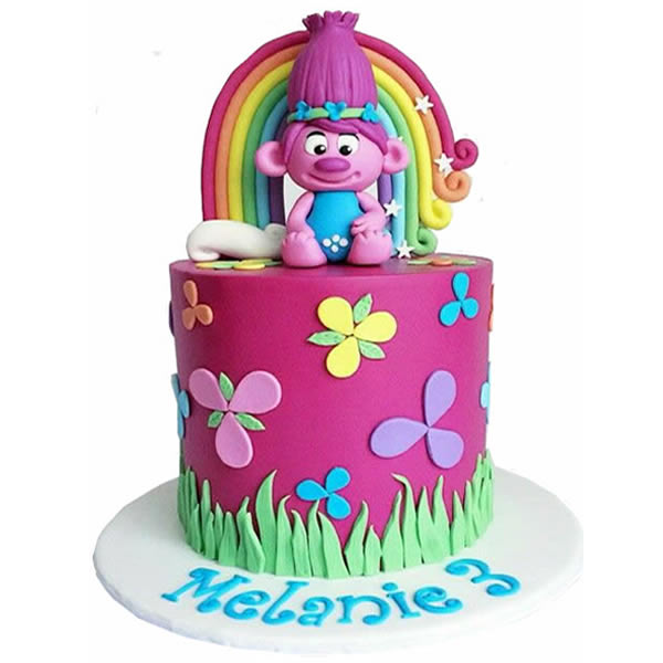 Troll Cake Toppers Birthday