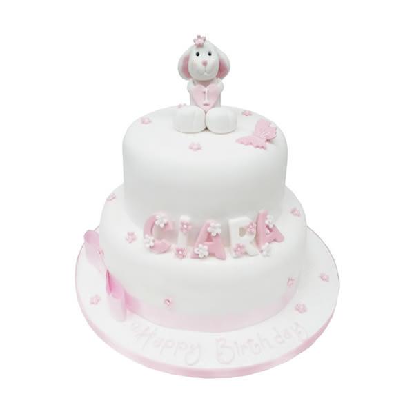 Enjoyable Bunny Birthday Cake Birthday Cards Printable Inklcafe Filternl