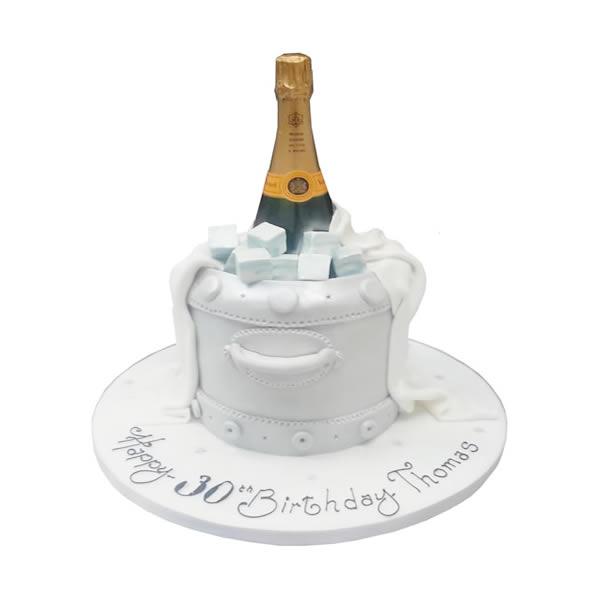 Champagne Bucket Birthday Cake -