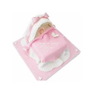 Cradle Christening Cake