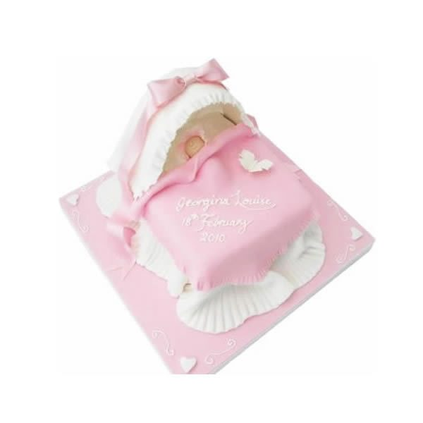 Cradle Christening Cake