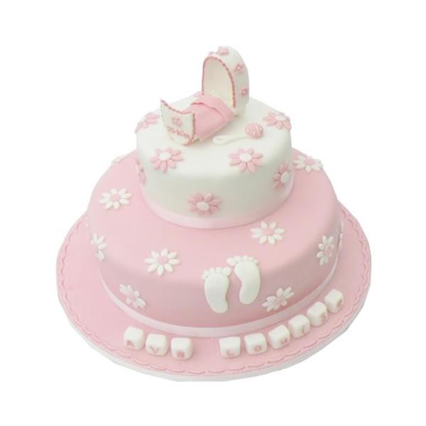 Footprint Christening Cake