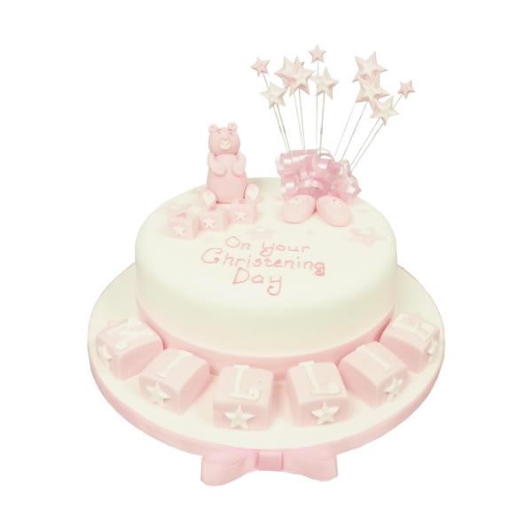Playcubes Christening Cake