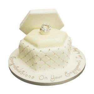 Engagement Ring Box Cake