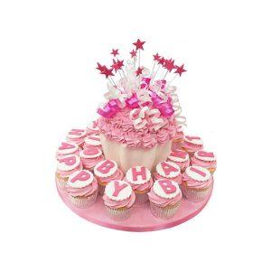 Large Happy Birthday Cupcake