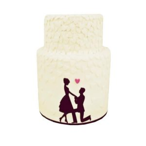Love Heart Silhouette Cake