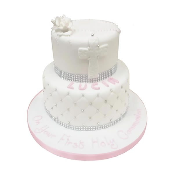 2-Tier-Communion-Rose-cake