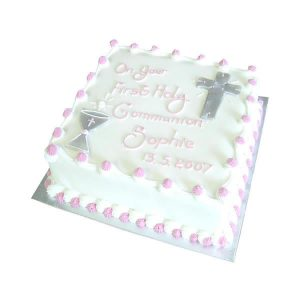 Communion-Cross Chalice Square-Cake