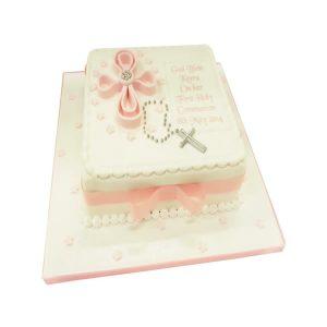 Communion Square Cake